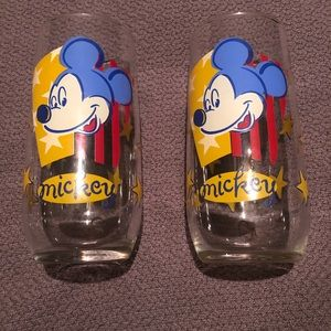 Other - Mickey Mouse Stars & Stripes Glasses  Set of 2